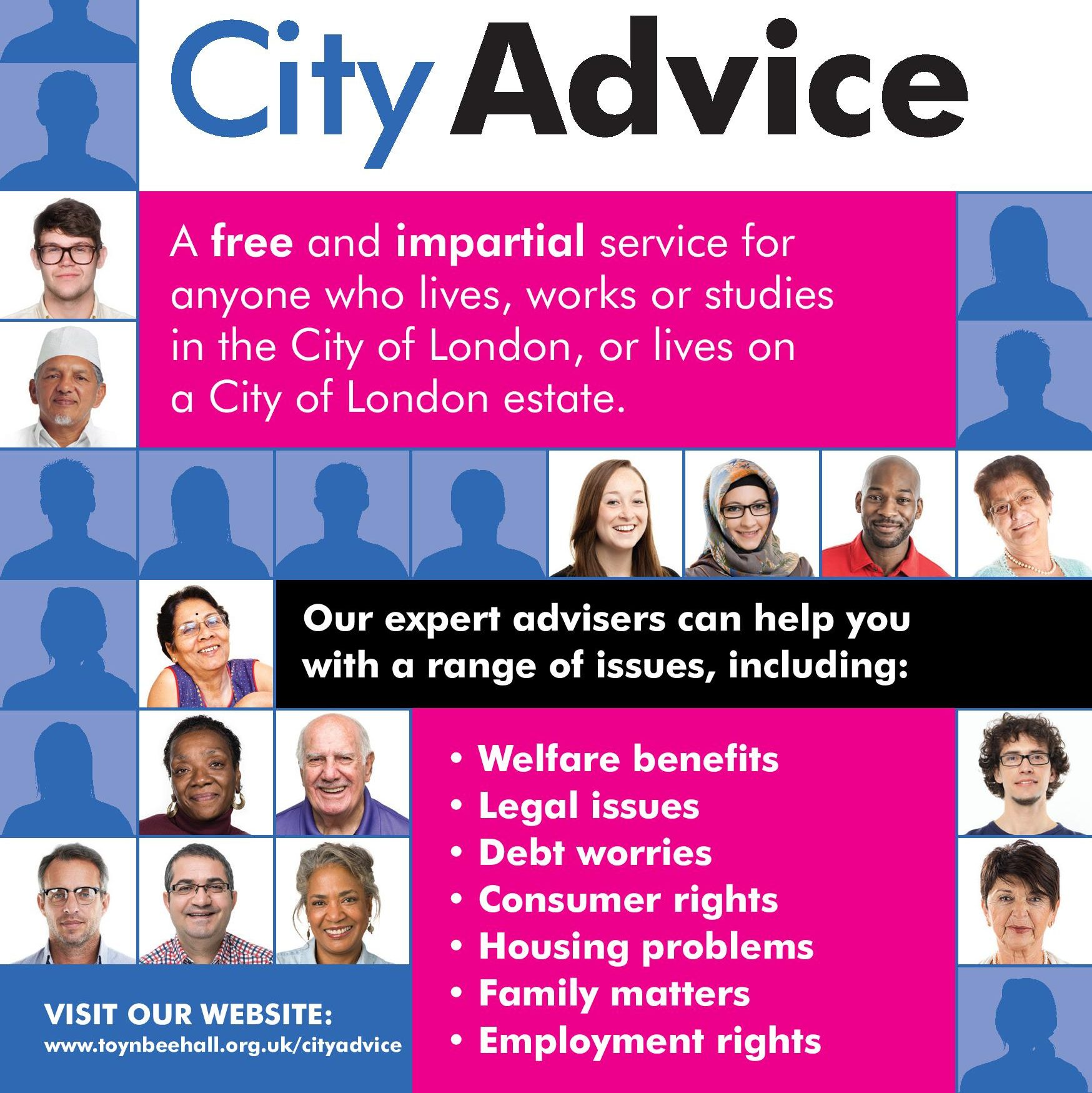 City Advice, a free and impartial service
